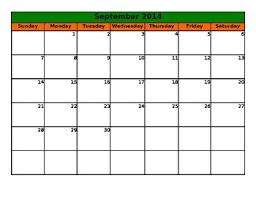 Calendar Blank 2015 Blank Planning Calendar 2015 2016
