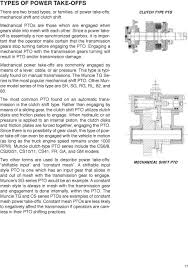 power take off systems muncie power products pdf since a power takeoff is essentially a non synchronized gearbox it is important that