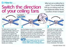 ceiling fan rotation for winter direction switch cool