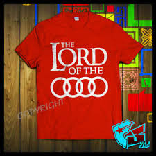 Details About New Official Audi Lord Of The Rings Quattro Audi A3 A4 A8 Q7 T Shirt Size S 3xl