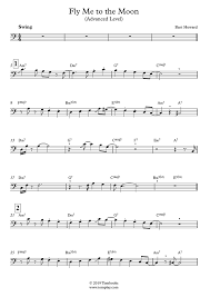 Fly me to the moon. Fly Me To The Moon Trombone Sheet Music Advanced Level Sinatra