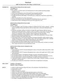 Recruiting Specialist Resume Sample Recruiting Operations Resume Samples Velvet Jobs 16