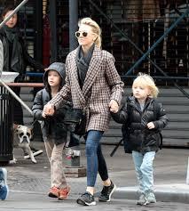 noami watts takes her children to school in new york city 127194