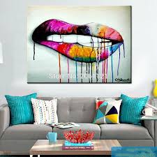Pop Art Idea Wall Canvas Painting Abstract Living Room Decoration Modern Art For Living Room