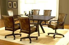gorgeous dining chair on casters room sets with chairs