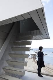 Concrete Stair Design For Small House Concrete Stairs With Triangular Profile Interior Stair