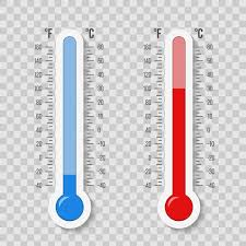 Fahrenheit To Celsius Thermometer Chart Celsius Fahrenheit Thermometer Temperature Scale Vector
