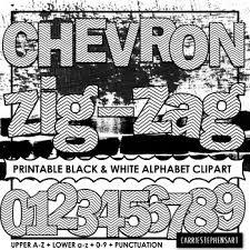 Printable Chevron Letters Chevron Printable Bulletin Board Letters Coloring Alphabet Clipart Png