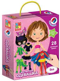Магнитная <b>игра</b> кукла-одевашка Ева <b>Vladi</b> Toys 8159171 в ...