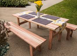 DIY table and benches made out of Simpson Strong-Tie hardware.