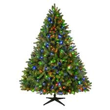 Christmas Tree With Changing Lights 7 5 Ft Pre Lit Led Grand Fir Artificial Christmas Tree With
