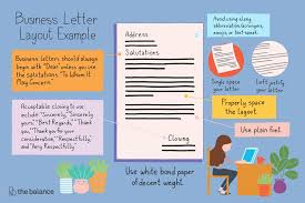 Typing Business Letter Business Letter Layout Example