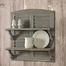 vintage shutter wall decor