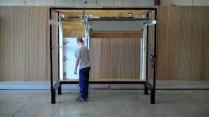 swing up post demonstration c h i overhead doors