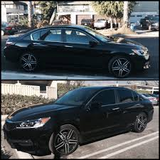 Before and after of my 2016 Honda Accord Sport (: they did a great ...