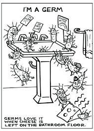 hand washing coloring page hygiene ng pages germs sheets hands impressive germ on for preschoolers