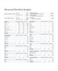 Sample Personal Budget Templates Best Personal Budget Template Personal Home Budget Template Personal