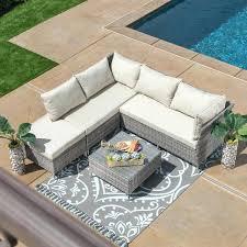 patio furniture sets walmart. Patio Wicker Furniture 4 Piece Grey Set Sets Walmart S