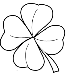 Small Picture Four Leaf Clover Coloring Page and Pictures to Colour