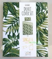 palm leaf bedding tropical green leaf print duvet set reversible bedding single with regard to leaf palm leaf bedding