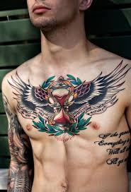 Pin by Byron Freeman on tatoo | Cool chest tattoos, Chest piece tattoos,  Chest tattoo men