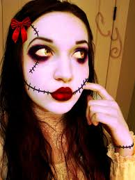 creepy rag doll makeup halloween