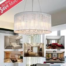 drum light chandelier. Image Is Loading Crystal-Ceiling-Lamp-Drum-Shade-Pendant-Light-Chandelier- Drum Light Chandelier L