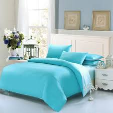 plain solid color cotton bedding sets soft warm duvet cover bed sheet sets luxury king queen twin size marry gifts skyblue black duvet bedding