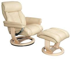 leather swivel recliner chair luxury the mars genuine with footstool cream co olivia bonded ottoman by