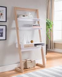 ladder desk with storage features contemporary style mdf wood veneer metal ladder desk with storage ladder