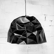 crumple white pendant lamp lighting. Crumple Pendant Lamp - Black White Lighting