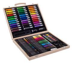 professional art supplies kit. amazon.com: sunrise portable art set. 131-piece with wood case: everything else professional supplies kit a