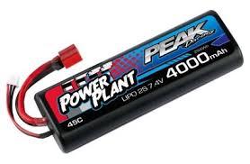 <b>Аккумулятор Peak Racing Power</b> Plant Lipo 4000 7.4 V 45C (Black ...