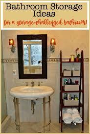 bathroom storage ideas for a storage
