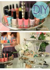 diy nail polish display stand