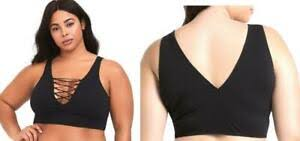 Torrid Sports Bra Size Chart New 2x 18 20 Sexy Torrid Black Strappy Front No Wire Or
