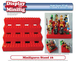 Lego Display Stands Custom LEGO Display For Minifig Minifigures Instruction Downloa 63