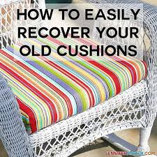 diy outdoor furniture cushion recover no sew options