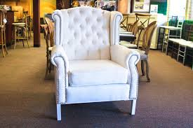 white wingback chair. White Wingback Arm Chair-19 Chair M