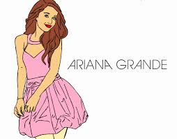 Small Picture Colored page Ariana Grande painted by User not registered