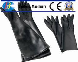 280mm width abrasive blasting gloves blast cabinet gloves highly protective