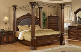 M S Bedroom Furniture King Size Four Poster Bedroom Sets 4 Post Bed Frame Furniture For
