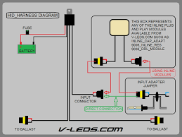hid bulb v leds blog installation diagram for hid harness