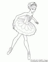 Coloriage Barbie Ballerine