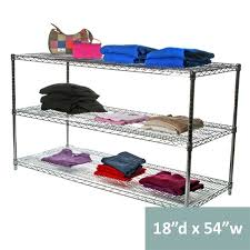 10 inch deep shelving unit inspirational 18 d three tier wire shelving kit heavy duty