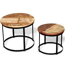 two piece coffee table set solid
