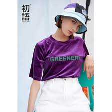 <b>Toyouth 2019 Women</b> T Shirt <b>Spring</b> Fashion Letter Printed Bling ...