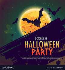 Party Invitation Background Image Halloween Party Invitation Background With Flying Vector Image