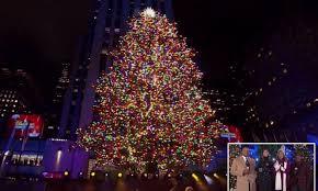 Nbc Christmas Lighting Gwen Stefani Julianne Hough And John Legend Perform At