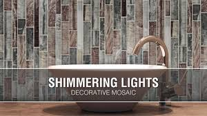 Allen Roth Shimmering Lights Shimmering Lights 12 In X 12 In Glass Linear Wall Tile Common 12 In X 12 In Actual 11 75 In X 11 75 In